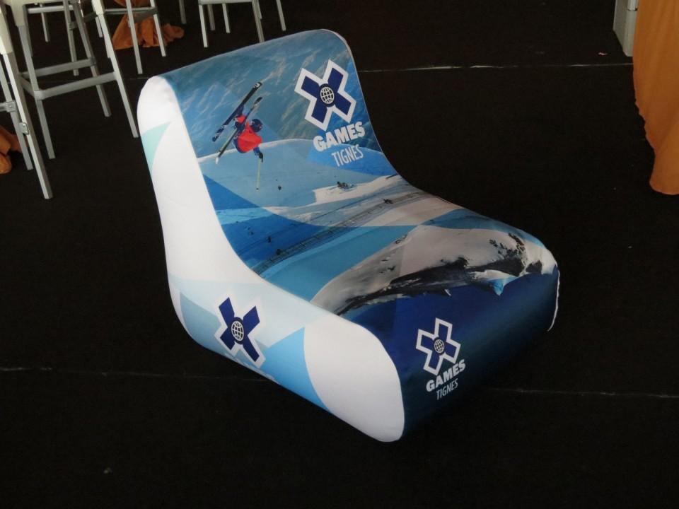 2_ Winter XGames Tignes fauteuil gonflable unc pro